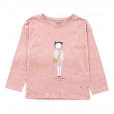 T-Shirt Mademoiselle Ida Paris Vieux Rose
