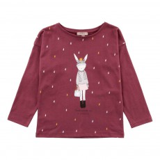 T-Shirt Mademoiselle Ida Chamonix Bordeaux