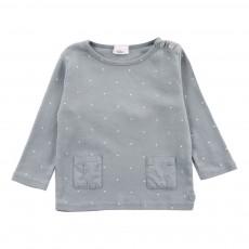 T-Shirt Etoiles Suzette Star Bleu gris