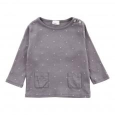 T-Shirt Etoiles Poches Suzette Star Gris foncé