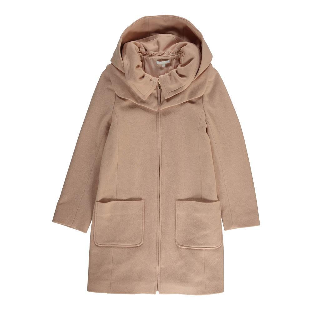 manteau drap de laine capuche amovible rose p le chlo mode ado smallable. Black Bedroom Furniture Sets. Home Design Ideas