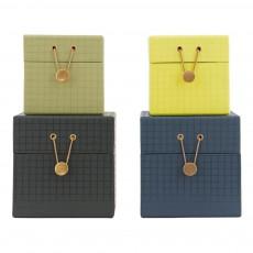Boîtes en carton - Set de 4 Multicolore