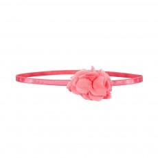 Headband Fleur Pom Pom Rose fluo