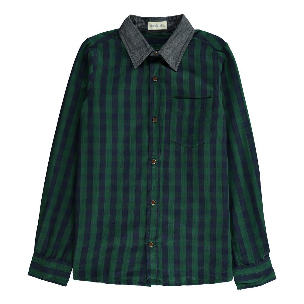 chemise carreaux jerome vert fonc simple kids mode ado gar on smallable. Black Bedroom Furniture Sets. Home Design Ideas