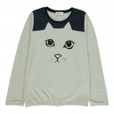 T-Shirt Bicolore Cat Ecru