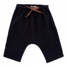 Pantalon Velours Souple Bébé Bleu marine