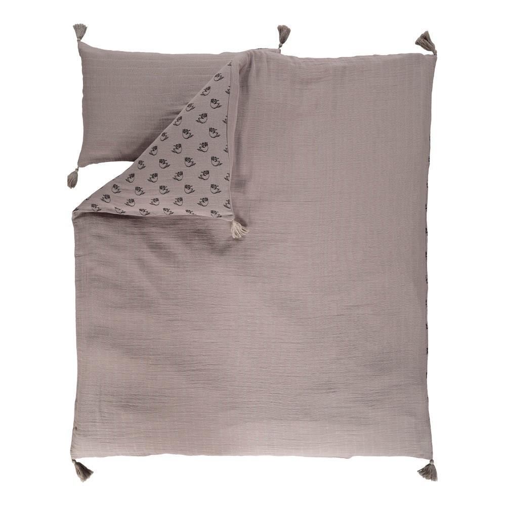 parure de lit ratons laveurs charlie gris moumout. Black Bedroom Furniture Sets. Home Design Ideas