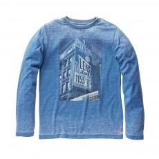 T-shirt Slim Burny ML Bleu chiné
