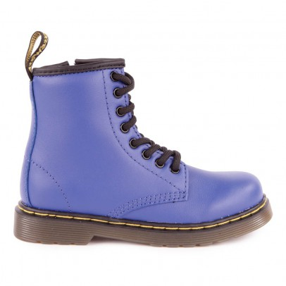 boots zipp es delaney bleu roi dr martens chaussures enfant smallable. Black Bedroom Furniture Sets. Home Design Ideas