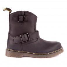 Boots Zippées Blip Noir