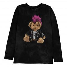 T-shirt Punk Bear ML Noir