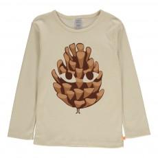 T-shirt Pomme de Pin Animée Beige
