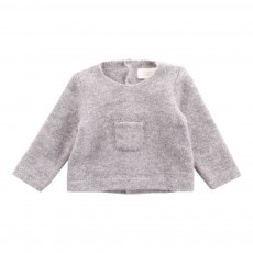 Pull Poche Gris chiné