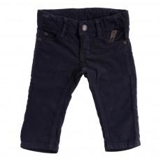 Pantalon Velours Slim  Bleu marine