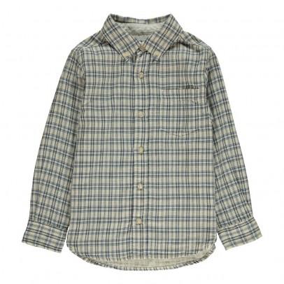 chemise carreaux ecossais cr me barque mode enfant smallable. Black Bedroom Furniture Sets. Home Design Ideas