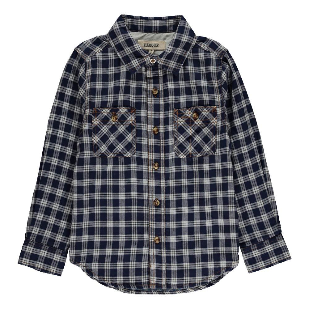 chemise carreaux bleu marine barque mode enfant smallable. Black Bedroom Furniture Sets. Home Design Ideas