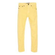 Jean Slim Velours Icon Jaune pâle