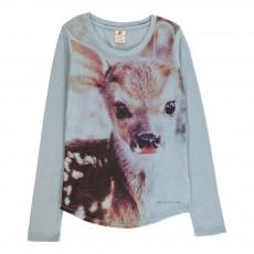 T-Shirt Tête Bambi Bleu ciel