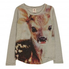 T-Shirt Tête Bambi Gris clair
