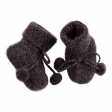 Chaussons Pompons Baby Alpaga Eclair Gris anthracite
