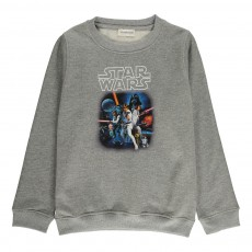 Sweat Starwars Galaxy Gris chiné