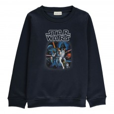 Sweat Starwars Galaxy Bleu marine