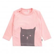 T-shirt Coton Bio Chat  Rose