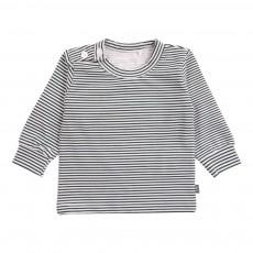 T-Shirt Rayé Coton Bio Vert