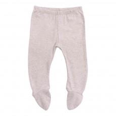 Pantalon Pieds Coton Bio Gris