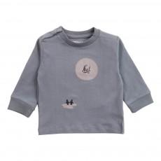 T-Shirt Coton Bio Pingouins Gris foncé