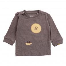T-Shirt Coton Bio Pingouins Gris chiné