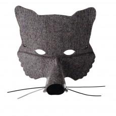 Masque en feutre loup Gris
