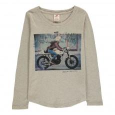 T-Shirt Moto Gris clair