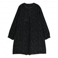 Robe Leopard Poches Noir