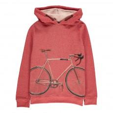 Sweat Capuche Bicyclette Vélo Rouge