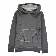 Sweat Capuche Bicyclette Vélo Bleu