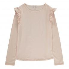 T-Shirt Volants Epaules Eugenie Rose pâle