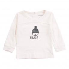 T-Shirt Coton Biologique BRRR Bonnet  Ecru