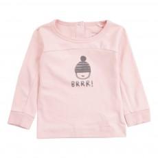 T-Shirt Coton Biologique BRRR Bonnet  Rose