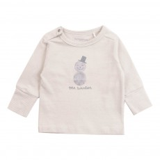 T-Shirt Coton Bio Mr Winter Ecru
