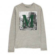 """T-Shirt """"M"""" Momi Gris chiné"""