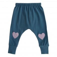 Pantalon Cœurs Bleu Vert