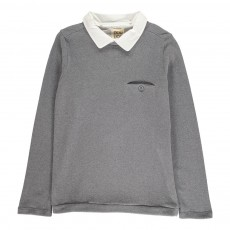 Sweat Col amovible Cartellino Gris