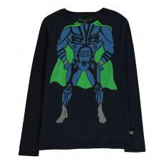 T-shirt Super Héros Barley Bleu nuit