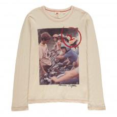 T-Shirt Motos Ecru