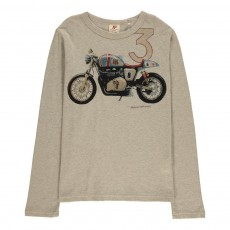 T-Shirt Motocross Gris clair