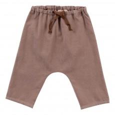Pantalon Velours Souple Bébé Grège