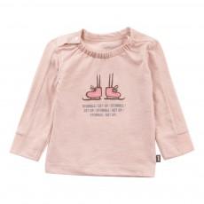 T-shirt Coton Bio Patins à glace Rose