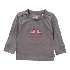 T-shirt Coton Bio Patins à glace Gris