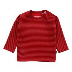 T-Shirt Rayé Coton Bio Rouge